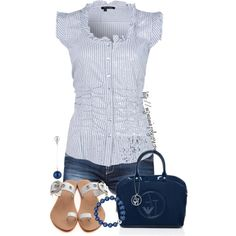 A fashion look from March 2013 featuring short jean shorts, blue tote bag and magnetic jewelry. Browse and shop related looks.
