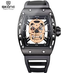 US $82.50 - Bermuda 2017 Pirate Captain Skull Quartz Men Watches Brand Men Military Silicone Men Fashion Casual Watch Waterproof