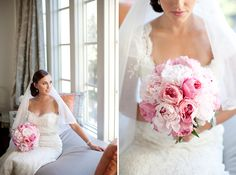 Gorgeous pink peony bouquet | Nancy Aidee Photography