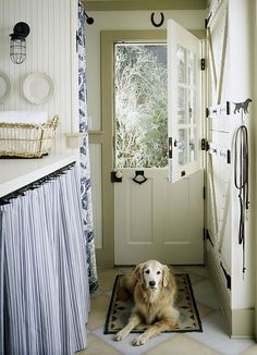 Oh to have a large laundry room some day with a little horseshoe over the doorway for luck.