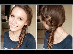 Kolay Saç Modeli: Balık Sırtı ve Kılçık Örgü - 6izle Hair Styles, Youtube, Beauty, Fashion, Hair Plait Styles, Moda, Fashion Styles, Hair Makeup, Hairdos