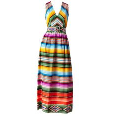 Traina Serape Print Halter Dress
