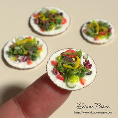 Gourmet Mesclun Green Salad  Small Salad  Dollhouse by dpaone