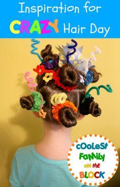Silly Wacky Crazy Seuss Hair For Crazy hair day :)