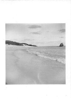 Black and White Vintage Snapshot Photograph Bermuda Beach Shore 1940's