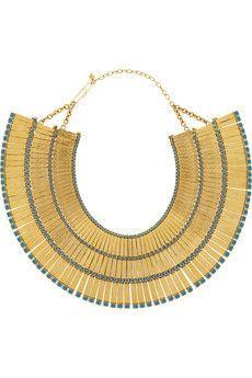 Mendoza 18-karat gold-plated enameled necklace by Aurelie Bidermann