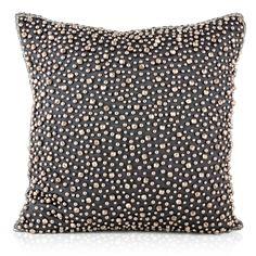 Pyar & Co. Khanana Gunmetal/Black Decorative Pillow