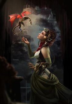 Read Steampunk from the story Fantasy Sub-Genre Guide by Fantasy with reads. Steampunk is actually a sub-genre of a sub. Fantasy Artwork, Magical Creatures, Fantasy Creatures, Fantasy Wesen, Art Steampunk, Steampunk Airship, Dragons, Fantasy Pictures, Fantasy Images