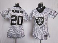 2012 Womens Nike NFL Oakland Raiders  20 Darren Mcfadden Zebra Fashion  Jerses 78b480b69