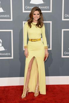 2013 Grammy Awards Red Carpet=Maria Menounous in Gomez Garcia