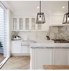 Floors Home Interior, Kitchen Interior, Interior Doors, Interior Design, Modern Interior, Cuisines Design, Beautiful Kitchens, Home Kitchens, Kitchen Remodel