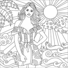 Coloring Book Art, Doodle Coloring, Colouring Pages, Coloring Sheets, People Coloring Pages, Coloring Pages For Girls, Sailor Moon Coloring Pages, Printed Pages, Drawing People
