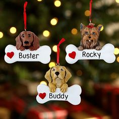 Pet Breed Ornaments - Your devoted pooch presents you with a holiday gift from the heart.