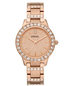 Fossil Watch, Women's Jesse Rose Gold-tone Stainless Steel Bracelet Love my V-day gift!