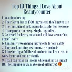 Top 10 things I love about Beautycounter!