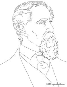 charles dickens coloring page
