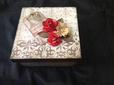 Caixa flores - arte com scrap - Rachel Simonini