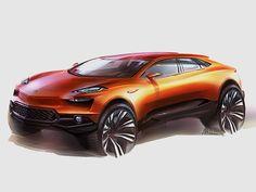 Lamborghini orange sketches transport car photoshop
