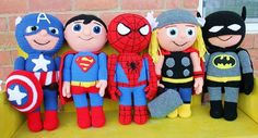 This Spiderman Crochet Pattern Doll is a swinging super fun project. This amigurumi doll when finished is 22 inches tall, The perfect size to cuddle. Crochet Gratis, Cute Crochet, Crochet For Kids, Crochet Dolls, Crochet Baby, Knit Crochet, Vintage Crochet, Amigurumi Doll, Amigurumi Patterns