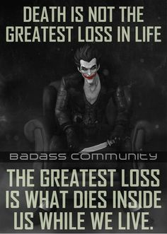 Sad truth citations jokers, joker and harley quinn, the joker, life death quotes True Quotes, Great Quotes, Quotes To Live By, Motivational Quotes, Inspirational Quotes, Best Joker Quotes, Badass Quotes, Batman Quotes, Joker And Harley Quinn