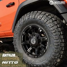 Anthem Defender Matte Black with Removable Spoke Inserts wrapped Nitto Ridge Grappler Truck Wheels, Wheels And Tires, Black Rims, Matte Black, Nitto Ridge Grappler, Buy Tires, Off Road Wheels, Wheel And Tire Packages