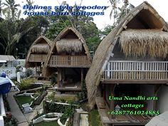 This rare design of original style of Real Balinese wooden house barn is earth quick resistant and use natural material. Warm in cold weather and cozy environment.It is in between 2 historical old temples, in front of Balines rice fields in BRESELA Ubud Bali . UMA NANDHI  art villa +628776104885