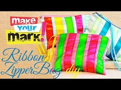Sew a Pretty Zippered Ribbon Pouch - Free Sewing Tutorial