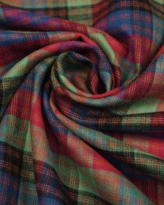 "Brushed Cotton Fabric - Red & Green Plaid - 54"" width"