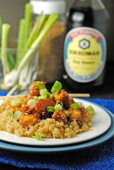 Lightened Up Sesame Chicken ~ No deep fried chicken and the sauce is lightened with honey versus too much brown sugar. Fabulous!