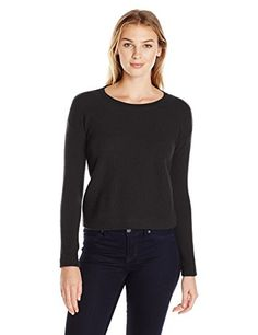 a8aeb9ff Lark & Ro Women's 100% Cashmere Honeycomb Stitch Crewneck at Amazon Women's  Clothing store: