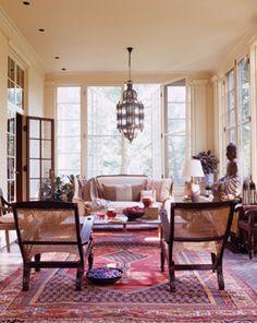 Eclectic sun room; Mona Hajj