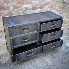 Hot rolled steel inside and out. #modernindustrialfurniture