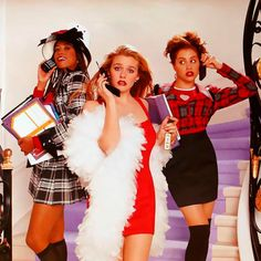 3 Clueless Halloween Costumes That Cher Horowitz Would Approve Of 3 ahnungslose Halloween-Kostümideen Clueless Halloween Costume, 90s Costume, Trio Halloween Costumes, Halloween Kostüm, Halloween Couples, Group Halloween, Homemade Halloween, Halloween Outfits, Cher Horowitz
