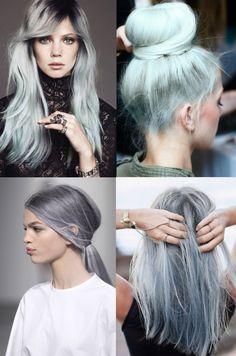 Blond aux nuances grises