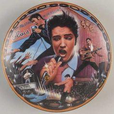 Bradford Exchange Cat Plates | Musical Tribute To Elvis-Plate