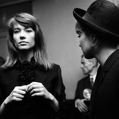 Mostly Françoise Hardy, but as you can see Sylvie is rockin' the stylish hat backstage at the Olympia in Paris, 1963.