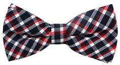 Mens T/C Cotton Plaid Handmade Bow Ties