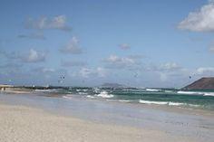 Grandes playas en el municipio de La Oliva Fuerteventura Islas Canarias.