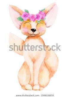 Стоковая иллюстрация «Cute Handdrawn Watercolor Smiling Little Fox», 1506126974 Tinkerbell, Disney Characters, Fictional Characters, How To Draw Hands, Watercolor, Disney Princess, Illustration, Cute, Image