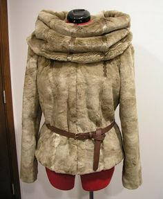 Couture et Tricot: Fur jacket and snood – Jaqueta de pelo e gola/cachecol