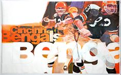 1972 CINCINNATI BENGALS Vintage Original NFL Stancraft Bartell Series Poster - Sold for $39.99 March 2014