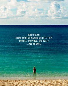 Dear ocean...