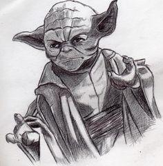 Amazing Yoda drawing. Dibujo de Yoda. A pluma.