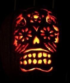 Dia de los Muertos sugar skull pumpkin