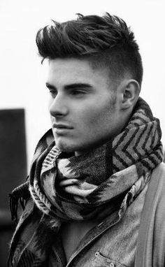 Great #Men's Medium-Length #HairStyle! I usually don't like men's disconnected haircuts, but I like this one