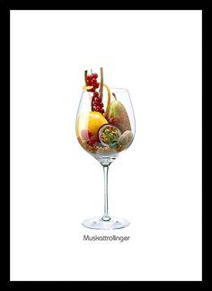 Quadro Poster Vinhos e Sabores Muller-Thurgau - Decor10