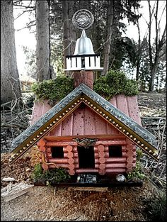 Recycled Upcycled Handmade Bird House by UncommonRecycables, $53.00