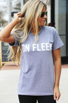 On Fleek Graphic Tee: Private Party {Gray} - The Rage - 1