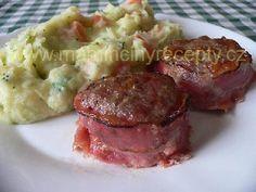 Mleté biftečky ve slanině Food And Drink, Pork, Meat, Kale Stir Fry, Pigs