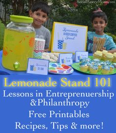 Lemonade Stand Lessons & Free Printables - my kids keep begging to do a lemonade stand.... I should let them, I suppose